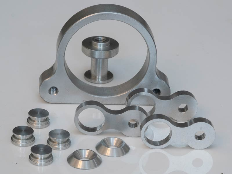 Milled steel and aluminium components