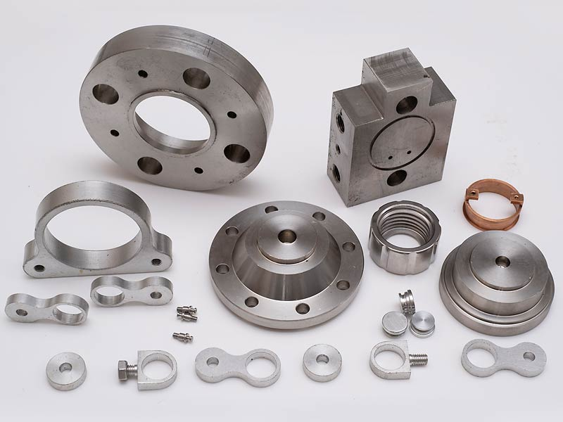 Vareity of milled and turned metal parts